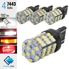 4x 7443/7440 Xenon 6000K White 190LM Rear Turn Signal Parking LED Lights Bulb