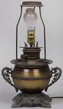 Miller slag glass lamp 1920 with urn base & slag glass shade Antique, marked