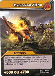 DINOSAUR King n° DKAA - 048/100 - Explosion alpha   (3829)