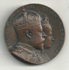 NICE 1902 CORONATION MAYORAL GIFT WADSWORTH-KING EDWARD VII /QUEEN ALEXANDRA