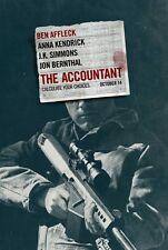 Accountant - original DS movie poster - 27x40 D/S Ben Affleck FINAL