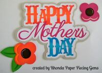 MOTHER'S DAY paper piecing title for Premade Scrapbook Pages album  by Rhonda
