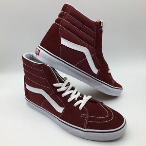 "Vans Men/Women's Shoes ""Sk8-hi "" Madder Brown/True White"