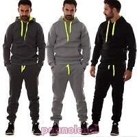 Tuta UOMO felpa pantaloni fitness palestra cappuccio tasche sport nuova S6603