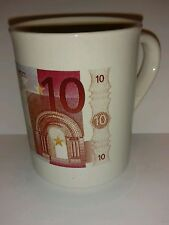 Collectible coffee mug Euro European money 10 euros denomination