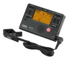 Korg TM-60 BK Tuner/Metronom Stimmgerät Click Kontaktmikrofon Tonabnehmer Black