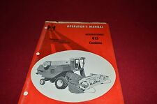 International Harvester 815 Combine Operator's Manual AMIL8