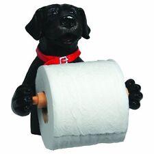 River's Edge Toilet Paper Holder Black Lab Labrador Dog Wall Bathroom Decor