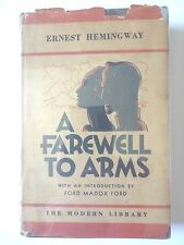 A FAREWELL TO ARMS by ERNEST HEMINGWAY 1932 FIRST MODERN LIBRARY EDITION RARE VG