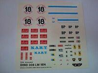FERRARI DINO 308GT Le Mans 1974 NART n.18 1/43 DECALS