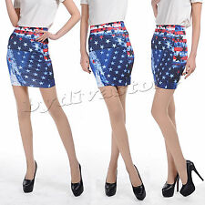 Sexy Mini-Jupe Jeans Look stretchrock Jupe Femmes DETERIORE usa xs s m 32 34 36