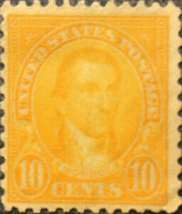 Vintage Scott #591 US 1925 10 Cents Monroe Postage Stamp