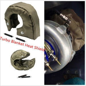 New T3 Universal Titanium Turbo Blanket Heat Shield Cover Barrier Turbo charger