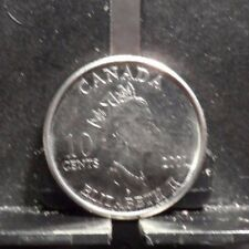 CIRCULATED 2001 10 CENT CANADIAN COIN(91817)1