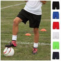 Boys Girls School Football PE Gym Sports Shorts Sport Short Cool Kids Childrens