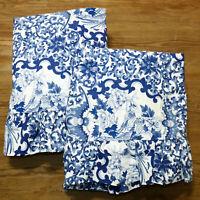 Linens Pillowcase Sham King RALPH LAUREN TAMARIND Blue White Large Inside 19x35