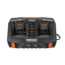 RIDGID AC840094 18V DUAL PORT SEQUENTIAL CHARGER WITH DUAL USB PORTS GEN5X !!!!!