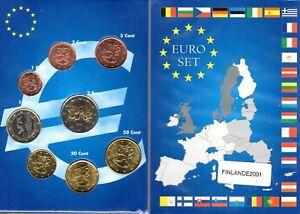 EURO  FINLANDE 2001  SERIE COMPLETE 1 C A  2 € NEUVE