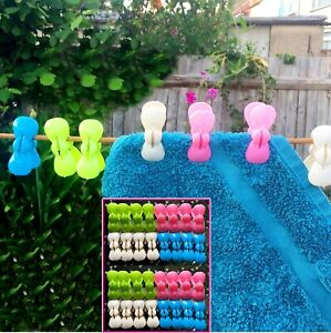 32x Strong Heavy Duty Pegs Buttrfly Plastic Laundry Washing Clothes Hanging Pins