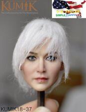 KUMIK 1/6 White Hair Female Head Sculpt KM18-37 for 12'' Female Figure ❶USA❶