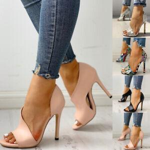 Summer Women's Fashion High Heels Sandals Slingback Serpentine Peep Toe Shoes