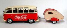 1962 Volkswagen Coca Cola Samba Bus with Tear Drop Trailer 1:43 Scale - O Scale