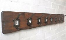 Rustic style Cloakroom School style Coat Rack with label frame hooks No 1-10