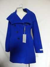Andrew Marc Power Double Breasted Wool Coat Cobalt Blue  NWT
