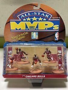 1997 Galoobs All-Star MVPs Chicago Bulls Mini Figures NBA Basketball New In Box