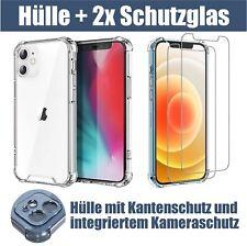 Hülle iPhone 11 12 Mini Pro Max Case Cover Kamera 2x Panzerfolie Schutzglas 9H