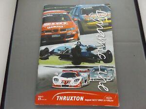 2003 THRUXTON PROGRAMME 17/8/03 - BRITISH F3 & GT & SEAT CUPRA