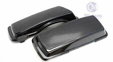 Dual 6x9 Speaker Lids For Harley Touring Saddlebag Road King Street Glide 94-13
