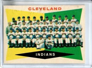 1960 TOPPS CLEVELAN INDIANS TEAM CARD (UNMARKED)