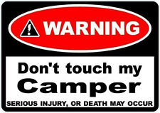 2 X advertencia No toque mi Camper Autocaravana VW Talbot Citroen 70mm Pegatinas
