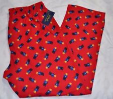 POLO RALPH LAUREN BEAR PAJAMA PJ PANTS RED XL NWT