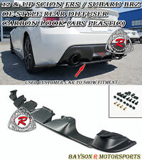 OE-Style Rear Diffuser (Carbon Look) Fits 12-18 Subaru BRZ