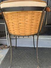 Longaberger Work Around Basket, Wrought Iron Stand Set