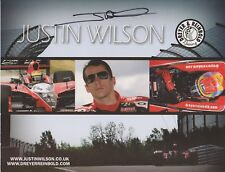 Indianapolis 500 Driver JUSTIN WILSON Signed Indy Car Team Hero Card e