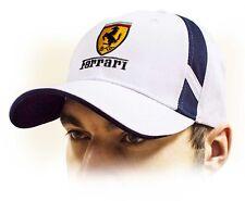 Ferrari unisex Gorra de béisbol Cap,100% algodón blanco con corona logo