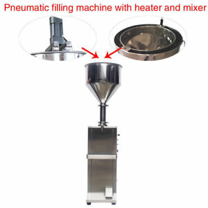 free shipping Vertical full Pneumatic cream  filling machine with heater,mixer