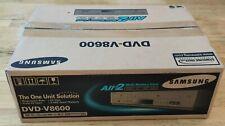 Samsung DVD-V8600 4 Head DVD/VHS Combo Player Multi Card Input New Open Box