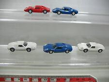 af139-0,5 #5x WIKING H0 AUTOVETTURA/Modello Porsche Carrera 16C, NUOVO