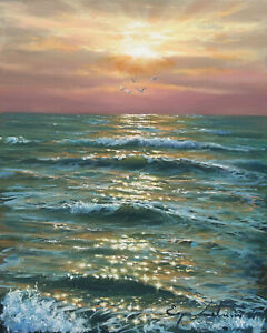 J. Litvinas Original Oil Painting 'SUNSHINE' 8 by 10 inches