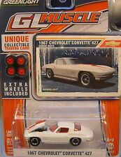 WHITE 1967 CHEVROLET 427 CORVETTE GREENLIGHT 1:64 SCALE DIECAST METAL CAR