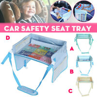 Portable Car Seat Tray Safety Travel Table Child Snack Board Holder Waterproof