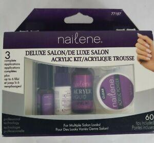 Nailene Deluxe Salon Acrylic Kit 20 French Tips 40 Natural 77197