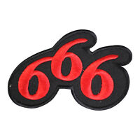 666 Devil Biker Patch Iron On Patch Sew On Badge Patch Embroidery Patch