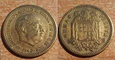 FRANCO moneda de 1 Peseta año 1947*1956. FECHA RARA CIRCULADA. Peso 3,46 gr.