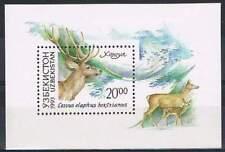 Uzbekistan postfris 1993 MNH block - Hert / Deer (S0884)