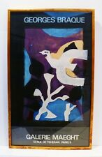 1967 LARGE COLOR LITHOGRAPH - GALERIE MAEGHT BY GEORGES BRAQUE-LISTED